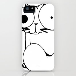 Psycho Cat iPhone Case