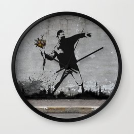 Banksy Wall Clock