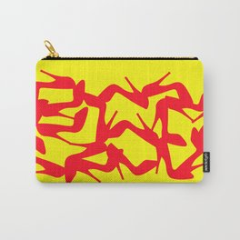 Shoe Fetish (Version 2) in Red and Yellow by Bruce Gray Carry-All Pouch