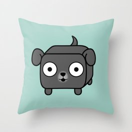 Pitbull Loaf - Blue Grey Pit Bull with Floppy Ears Throw Pillow