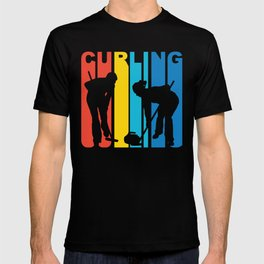 Retro 1970's Style Curling T-shirt