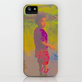 She Listens At Golden River And Feels An Overseeing Power iPhone Case