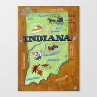 indiana Canvas Prints featuring INDIANA by Christiane Engel
