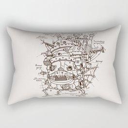 Howl's Moving Castle Plan Rectangular Pillow