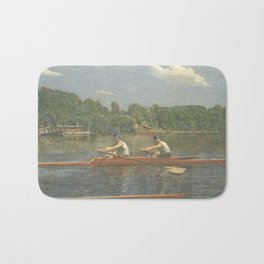 The Biglin Brothers Racing by Thomas Eakins Bath Mat
