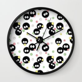 Cute Soot Sprites with Candy Wall Clock