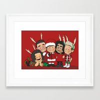liam payne Framed Art Prints featuring It's Christmas, Liam Payne by Ashley R. Guillory