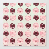 donuts Canvas Prints featuring Donuts!! by Oh Monday