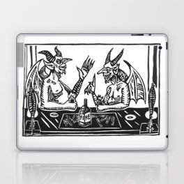 Two Devils Putting the World to Rights Laptop & iPad Skin