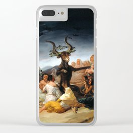 Francisco Goya Witches' Sabbath Clear iPhone Case