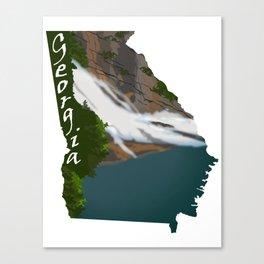 Georgia: Hurricane Falls Canvas Print