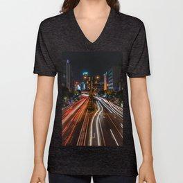 Naha Traffic in Color Unisex V-Neck