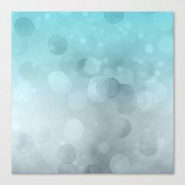Aqua Turquoise Grey Soft Gradient Bokeh Lights Canvas Print