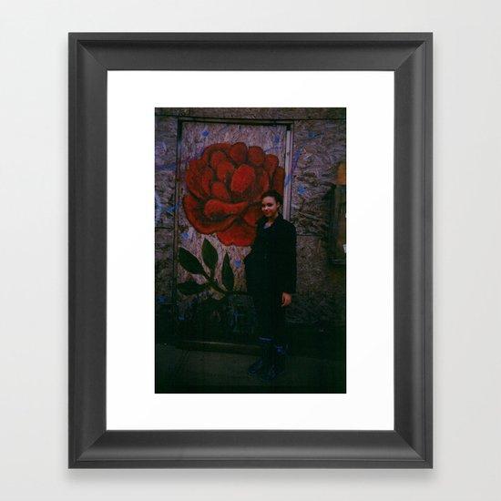 wall flower  Framed Art Print