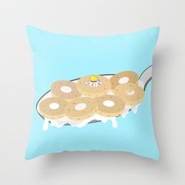 Space Odyssey | Astronaut Crispy Oats | Cereal | Space | Food | Breakfast | pulps of wood Throw Pillow