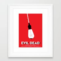 evil dead Framed Art Prints featuring Evil Dead by Let's Kiss To Make It Real