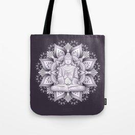 Black Mandala Tote Bag