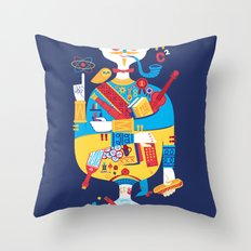 Jack of Smarts (Knave of Slobs) Throw Pillow