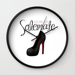 You're My Solemate Wall Clock