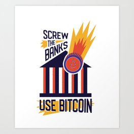 Cool Bitcoin Trader Outfit Crypto Fan Gift Art Print