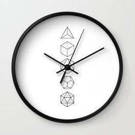 Platonic Solids Geometric Print Wall Clock