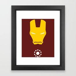Iron Man Minimalist Framed Art Print