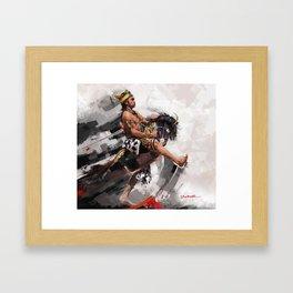 leathered horse (kuda lumping) Framed Art Print
