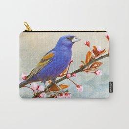 Blue Grosbeak Bird Carry-All Pouch