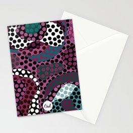 out circle Stationery Cards