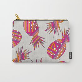Geometric Pineapples Summer Print Carry-All Pouch