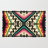 tribal Area & Throw Rugs featuring Tribal by Ornaart