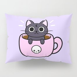 Pastel Coffee Cat Pillow Sham