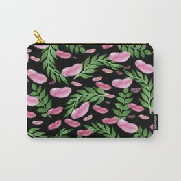flying leaves in pink Carry-All Pouch