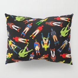 Superhero Butts Pattern (Dark) Pillow Sham