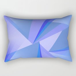 Meditation - Blue Abstract Rectangular Pillow