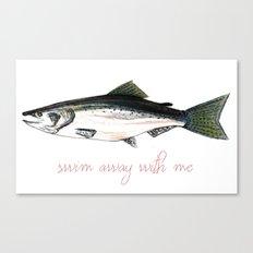 Swim Away With Me Canvas Print