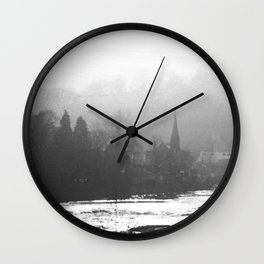 Town In The Valley Wall Clock