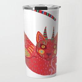 Alebrije cat Travel Mug