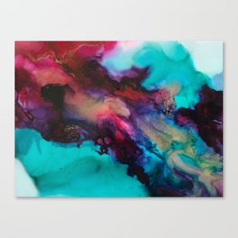 "Abstract ""Consumed"" Art Canvas Print"