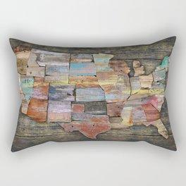 USA States Map Rectangular Pillow