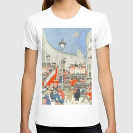 "William Heath Robinson - ""The Spirit of Christmas in Regent Street"" (1928) T-shirt"
