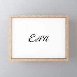 Name Ezra Framed Mini Art Print