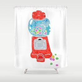 Bubble gum machine. Shower Curtain