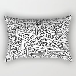 entwined stripes Rectangular Pillow