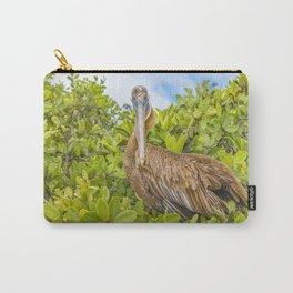 Big Pelican at Tree, Galapagos, Ecuador Carry-All Pouch