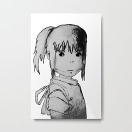 Remember Your Name (Chihiro) - Sketch Metal Print