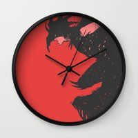 nightmare Wall Clocks featuring Nightmare by Pulvis