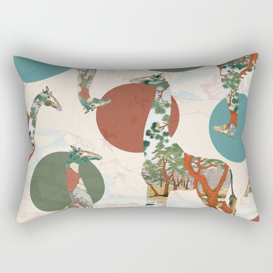 Giraffe Polka Rectangular Pillow