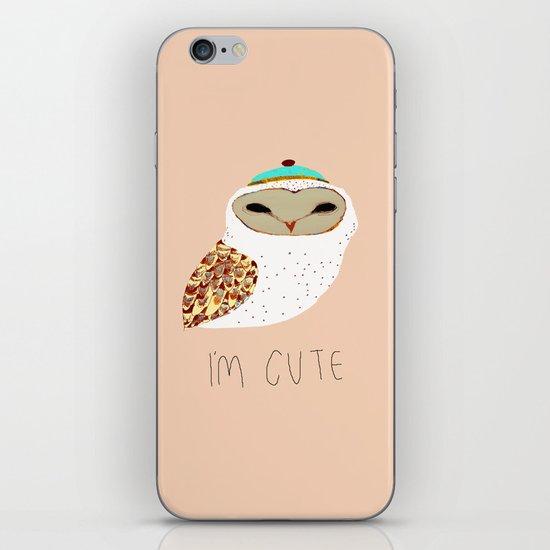 i'm cute owl illustration  iPhone Skin