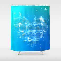 Heart2 Blue Shower Curtain